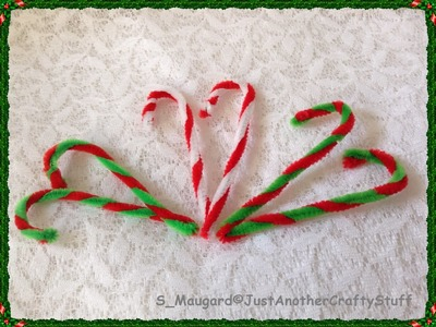 DIY : How to make Christmas Candy Canes with Pipe Cleaners