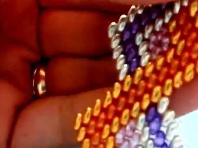 DIY-Tutorial. It. bracciale zig-zag in 5 colori di twinbeads