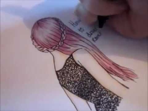 How to draw lace and hair