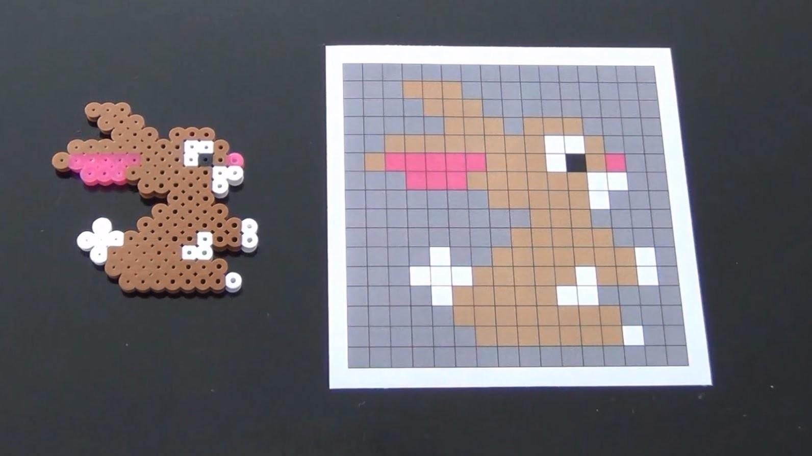 How to Make a Cute Perler Bead Bunny