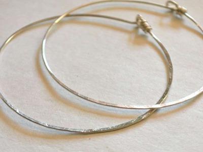 How To Make Simple Hammered Sterling Hoop Earrings - DIY Style Tutorial - Guidecentral