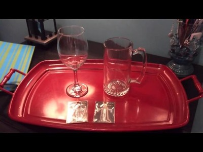 How to Make Wedding Toasting Glasses for $2