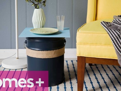 PAINT CAN DIY IDEA #2: Side table - homes+