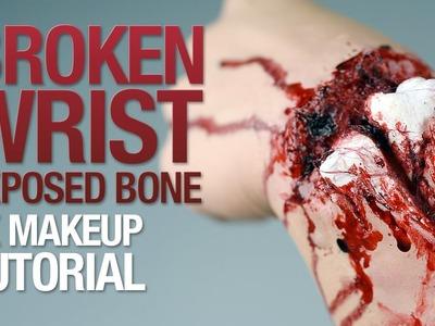 Broken wrist exposed bone fx makeup tutorial