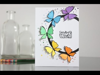 Colorful butterflies with Paper Smooches