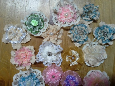 Easy Lace and Ribbon Flowers Tutorial
