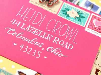 """Faux"" Calligraphy - Make Your Envelopes Special!"