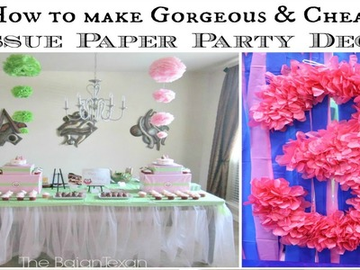 Hanging Ombre Tissue Paper Flowers Tutorial