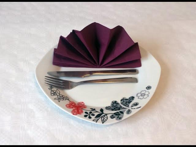 How to do paper napkin folding 05