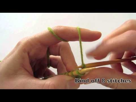 How to knit the picot bind off for the Sunray Shawl by dunkelgrün - ENGLISH