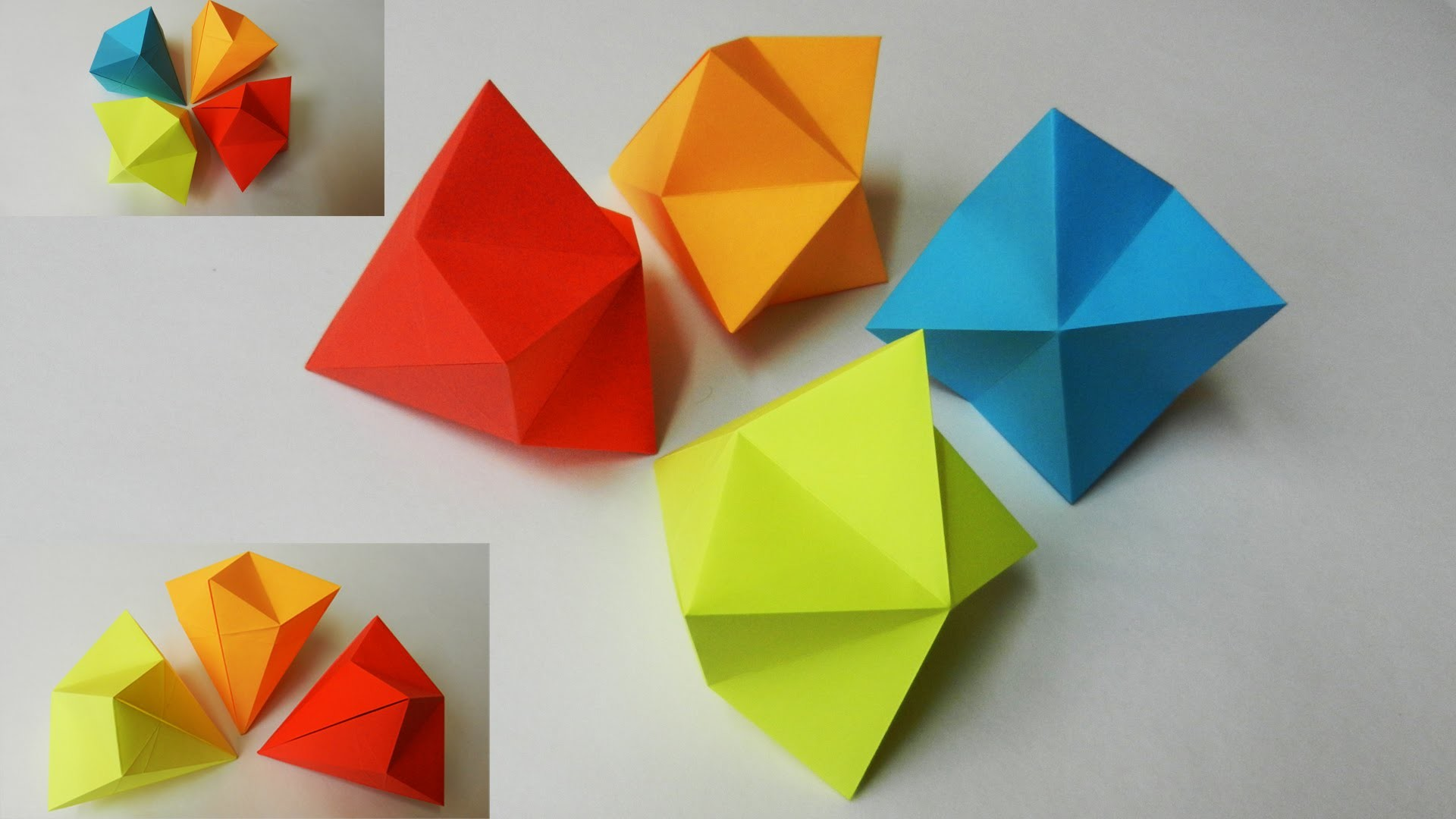 How to make a Paper Diamond, Easy | Tutorial