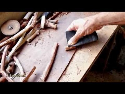 How To Make Long Rustic Wooden Buttons - DIY  Tutorial - Guidecentral
