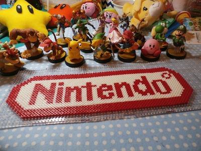 Nintendo Logo Perler Bead + Amiibos ~ (Stop Motion)