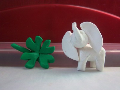 Polymer Clay Good Luck Charms: White Elephant & Four Leaf Clover