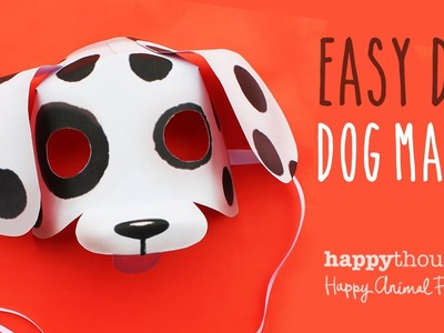 Printable dog mask template + photo tutorial!