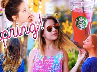 Spring Hairstyles, DIY Starbucks Drink, and Outfit!