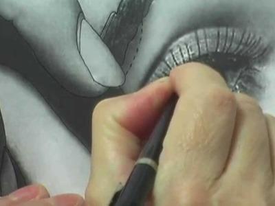 Airbrush Mel 26 - Eye 1 - How I use Transfer Paper