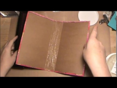 Book made from paper bags and a food box cover