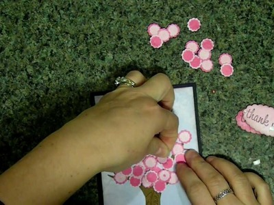 Cricut Thank you blossom tree card  Paper doll dress up cartridge & SFTN