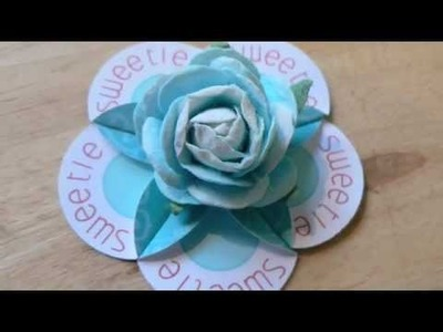 Cute paper flowers using Printables