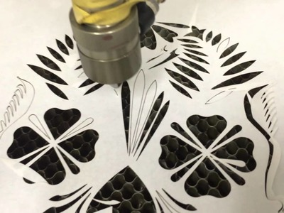 Freezer paper cutting test with cnc laser cutter
