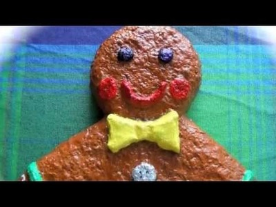 Gingerbread man made from paper-pulp