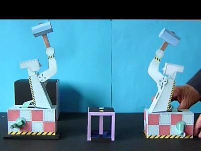 """""""Hammerbot"""" a hammer robot as a paper model"""