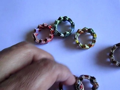 Handmade Candywrap Paper Ring