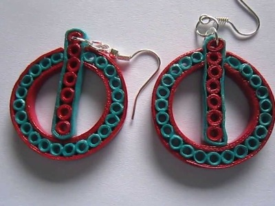 Handmade Jewelry - Paper Quilling Power Button Earrings (Not Tutorial)