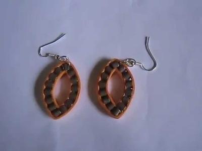 Handmade Jewelry - Paper Quilling Leaf Shape Earrings (Not Tutorial)