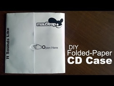 How to Make a Folded-Paper CD Case?