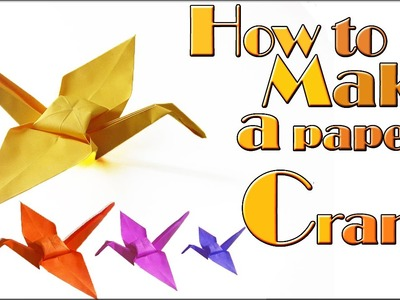 How to make a paper crane (tutorial) origami crane