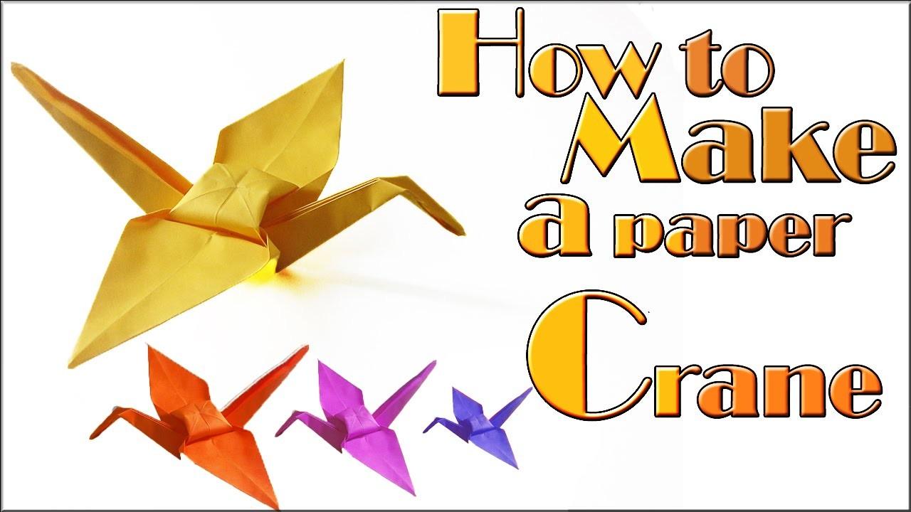 How to make a paper crane (tutorial) origami crane