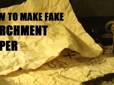 How to make prop parchment paper