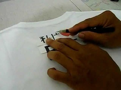 How to put 3G Opaque transfer paper on T-Shirt