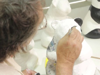 """""""Made-in-Hong Kong"""" Limited Edition Paper Mache Panda Workshop"""