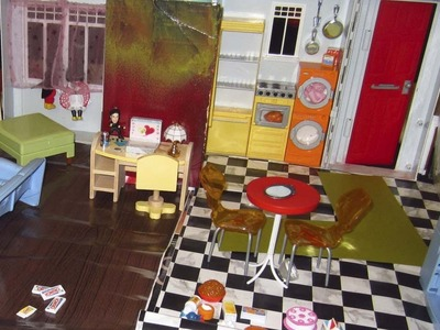 Making Flooring for Barbie or Diorama with Contact paper.