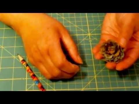 paper bag flower tutorial