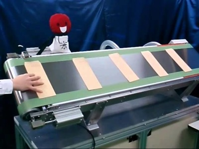 Steel Belt Vacuum Conveyor - Processing on Paper - Paper Envelop .wmv