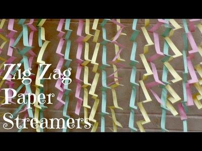 Zig Zag Paper Streamers