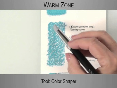 [2.4] - Exercises on Colourfix Paper - Melting Artist Crayon on Colourfix Paper