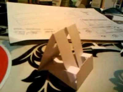Building the paper iPhone.iPod dock.stand