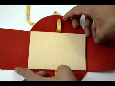 D-3665, Red Color, Handmade Paper, Light Weight Cards, Hindu Cards, Indian Wedding Invitations