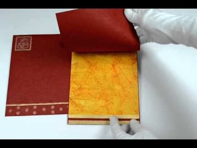 D-4918, Red Color, Handmade Paper, Hindu Cards, Indian Wedding Invitations, Wedding Cards