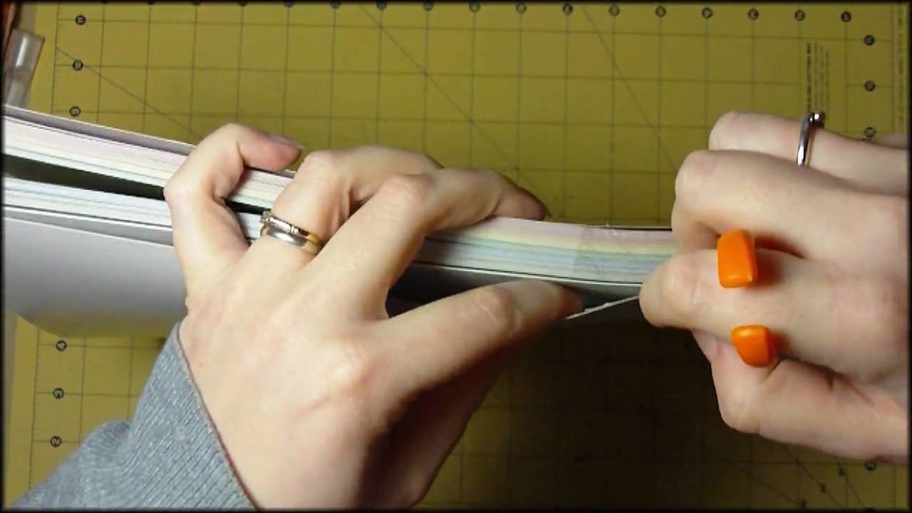 How to. Breaking out new paper stacks