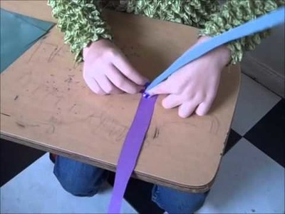 How to make a paper jacob's ladder ornament