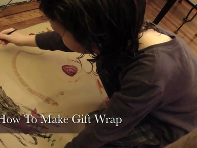 How To Make Gift Wrap Paper