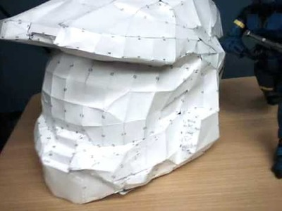 Master Chief Helmet out of paper