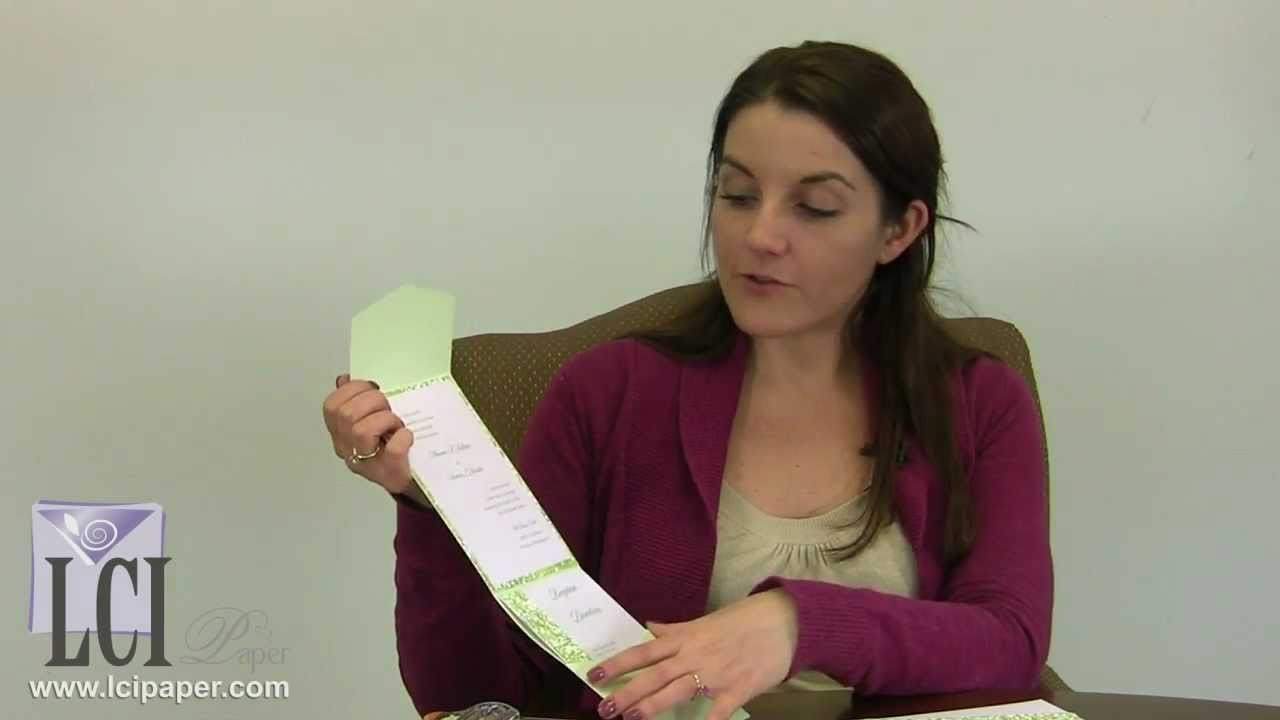 Springtime Pocketfold Wedding Invitation Layered With Japanese Chiyogami Paper
