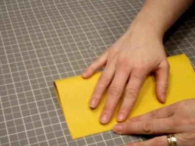There is a CORRECT way to fold paper--REALLY!